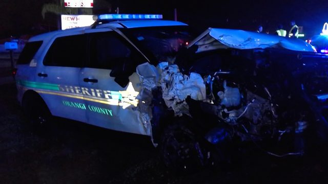 FHP: Clermont man crashes into Orange County deputy's car on