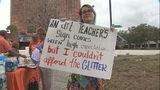 Orange County teachers protest