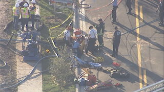 Man falls about 20 feet into storm drain on Lake Nona Boulevard, firefighters say