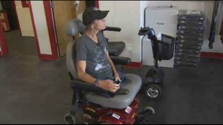 Disabled Orlando homeless woman receives wheelchair donation