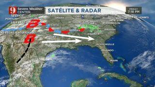 Domingo: riesgo de tormentas fuertes a severas en Florida Central