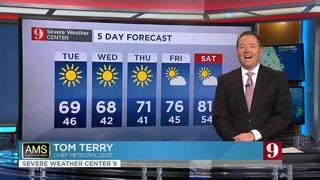 Temperatures below average this week