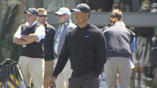 Tiger Woods at Bay Hill on Tuesday
