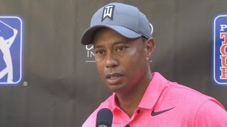 Tiger Woods talks about his 2nd round
