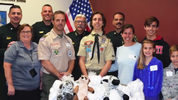 Eagle Scout Avery Feucht worked for a year to raise funds to create 400 teddy bears for the Orange County Sheriff's Office.