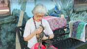 A 90-year-old woman from Polk County loves animals, and is continuing a tradition that her mother began of knitting small blankets and donating them to animal shelters to make the cages more comfortable.
