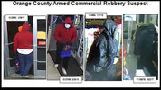The Orange County Sheriff's Office is hoping someone will recognize a man who has been robbing Family Dollar and Dollar General-type businesses since December.