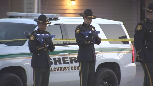 best cheap bdcbb 6795a Two Gilchrist County deputies were shot and killed while eating at a  restaurant, authorities said.