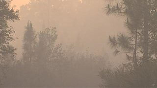 Brush fire creates smoky conditions, driving hazards in Osceola County
