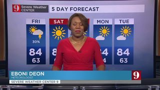 Weather twist to end the workweek