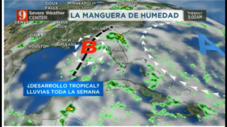 Posible desarrollo tropical sobre el Golfo de México