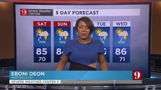 Heavy round of showers for the weekend