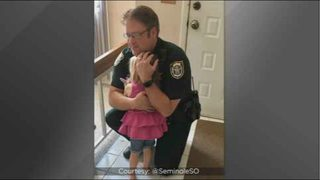 Seminole County deputy reunited with 3-year-old girl left in hot car