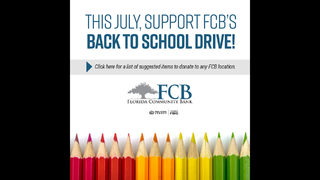 Florida Community Bank collecting supplies for students