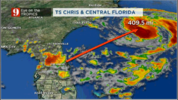 Indirect impacts to Central Florida from Chris