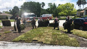A Pasco County man had a heart attack as he was rushing to lay sod on his front yard to avoid getting a fine from his homeowner's association, but something unexpected happened after Fire Rescue took him to the hospital.