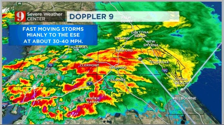 Heavy showers, fast soakers over Central Florida