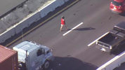 A woman was causing a disturbance Friday on Interstate 4 in Orlando, police said.