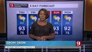 Rain coverage drops in the next few days