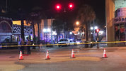 A pedestrian was killed at the intersection of Main Street and Atlantic Ave in Daytona Beach. Photo by Ty Russell / WFTV.