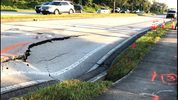 A sinkhole that opened in DeBary is causing traffic issues Friday, according to the Florida Highway Patrol.