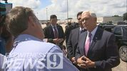 Channel 9's Steve Barrett asked Vice President Mike Pence about a controversial New York Times op-ed claiming a