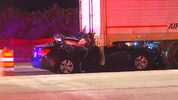 One person is dead after a car crashed into a tractor-trailer in Orange County.