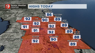 The heat remains in Central Florida
