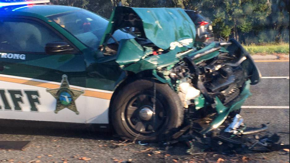 FHP: Man dies after deputy slams into back of pickup truck   WFTV