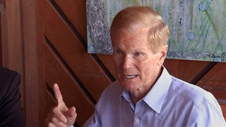 Video: At the height of campaigning, Sen. Nelson discusses future of space travel