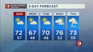 Cooler temps on the way