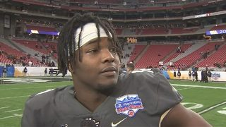UCF Defensive End Titus Davis after 40-32 loss