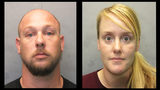 Photo provided by Monroe County Sheriff's Office - Lee Roe, 36, and Ashley Roe, 34, were arrested Saturday on charges of failing to pay a $10, 155.09 hotel tab at the Hampton Inn on Overseas Highway, the Sheriff's Office said.