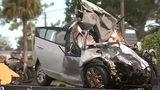 VIDEO: Wrong-way driver killed, hot asphalt spilled on road after crashes on I-95, FHP says