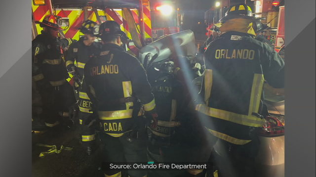 Orlando firefighters recovering after crash give reminder for drivers to use caution