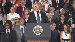 President Trump in Miami for speech on political turmoil in Venezuela