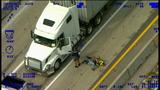 Raw video: Arrest of Longwood murder suspect on I-4