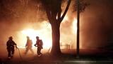 VIDEO: Burning car ignites 2 homes in Orlando