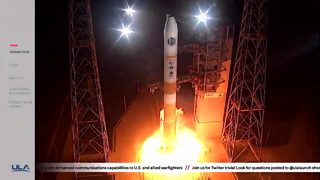 Delta IV rocket launches from Cape Canaveral Friday evening