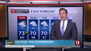 Rain expected this week as temperature drop Monday, Tuesday