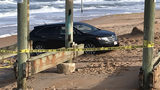 Surveillance video: Camera captures moments before SUV crashes into children on beach