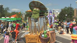 Channel 9 reporter Q McCray got a first look at the Sesame Street attraction which includes a splash pad, the iconic 123 stoop and two parades every day.