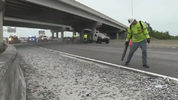 Landscape rocks fly off dump truck, cover part of I-95 in Brevard County