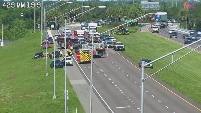 State Road 429 back open after crash blocked lanes near