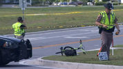 A 10-year-old boy on a bike has died after being hit by a semi-truck in south Orange County, according to the Florida Highway Patrol.