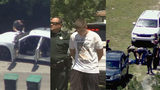 VIDEO: Deputies: Trio races through 2 counties in stolen car, pickup truck