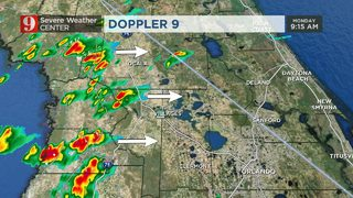 Strong storms soaking Central Florida; risk of severe weather, coin-sized hail