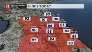 Rain, storm chances increase Sunday afternoon as Central Florida stays hot