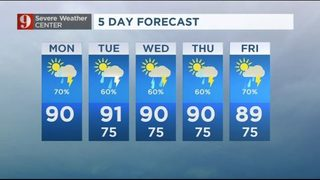 Rain and storms: High rain chances continue to start the work week