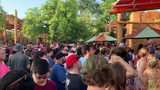 Muggles and wizards from around the globe swarmed Universal's Island of Adventure Wednesday for the opening of Hagrid's Magical Creatures Motorbike Adventure.
